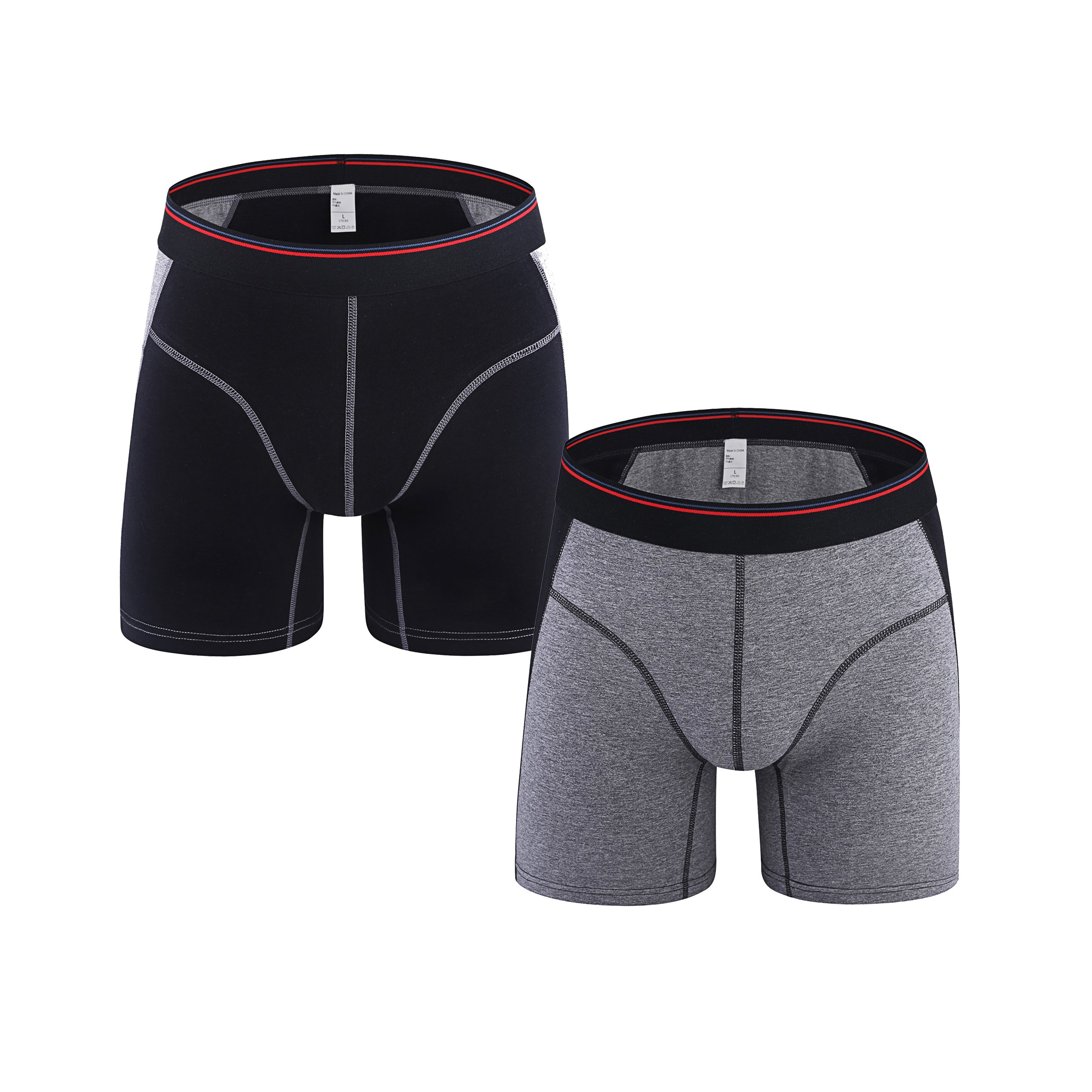 Fedpop Men\'s Boxer Briefs Cool Underwear Stretch Underpant