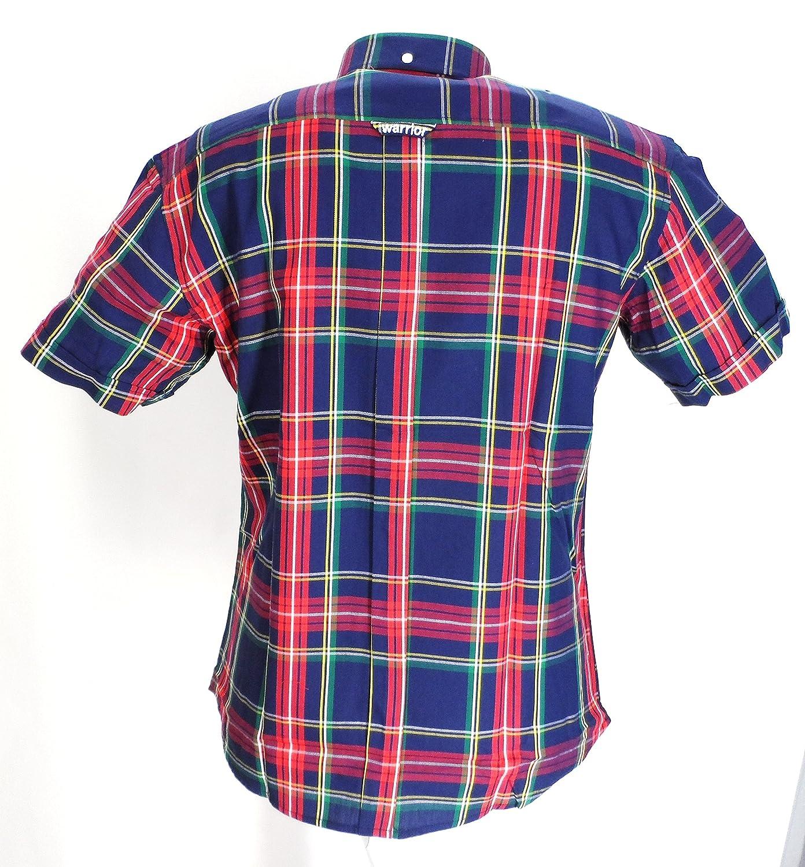 Warrior Pistols Short Sleeved Vintage Retro Mod Button Down shirts:  Amazon.co.uk: Clothing