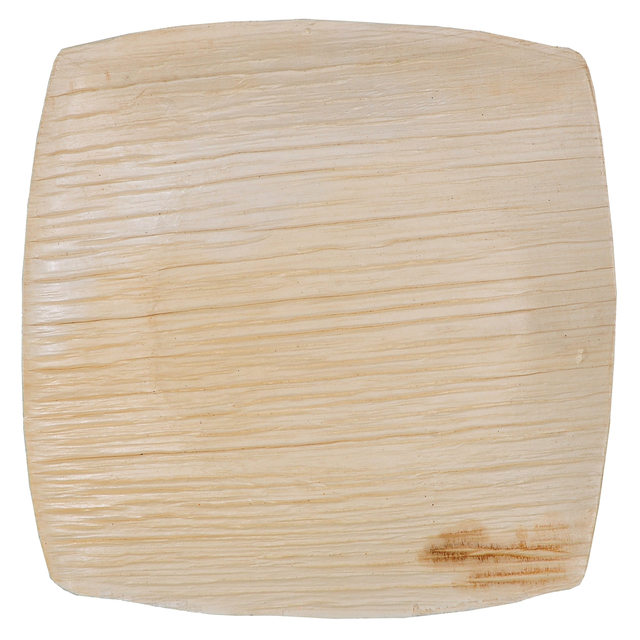 GREEN ATMOS 100 PACK - 4'' X 4'' QUADRATO SQUARE MINI TASTER / COOKIES PLATE BIODEGRADABLE, COMPOSTABLE AND ECO-FRIENDLY DISPOSABLE ARECA PALM LEAF PLATES