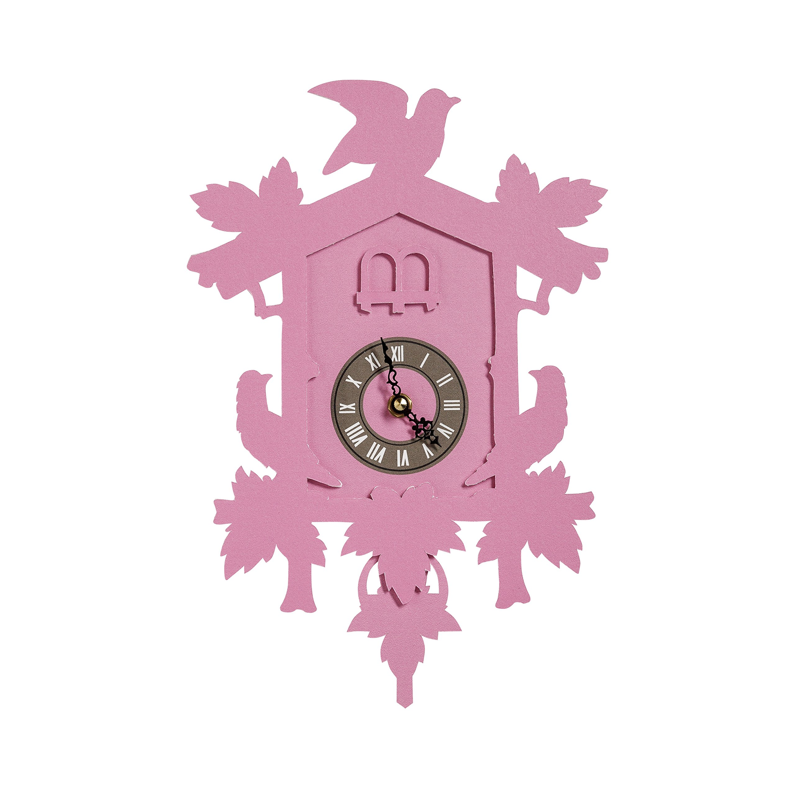 FunDeco Cuckoo Clock, Fuchsia, Small