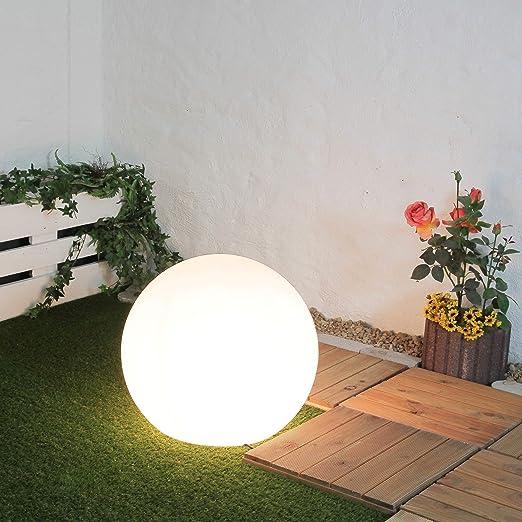 Jardín Lámpara Bola/blanco/diámetro 60 cm/E27 Max 60 W/Bola/Poste lámpara decorativa/exterior/plástico – Lámpara Jardín/Exterior: Amazon.es: Iluminación