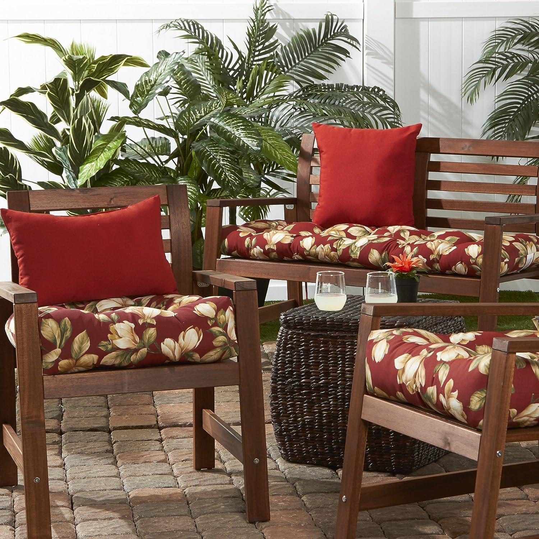 Greendale Home Fashions AZ6800S2-MARINE Blue Outdoor Dining Seat Cushion Set of 2