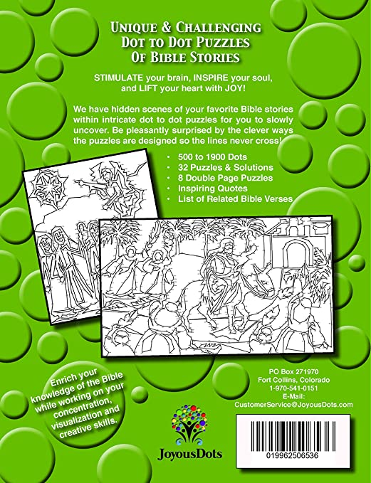 Amazon Joyous Dots New Testament Dot To Intricate Series Book 1 Extreme Christian Fun Toys Games