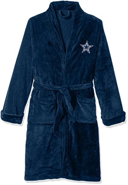 2625063275 The Northwest Company Officially Licensed NFL Dallas Cowboys Men s Silk  Touch Lounge Robe