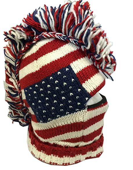 Amazon Unisex Punk American Flag Snowboard Mohawk Hat 100