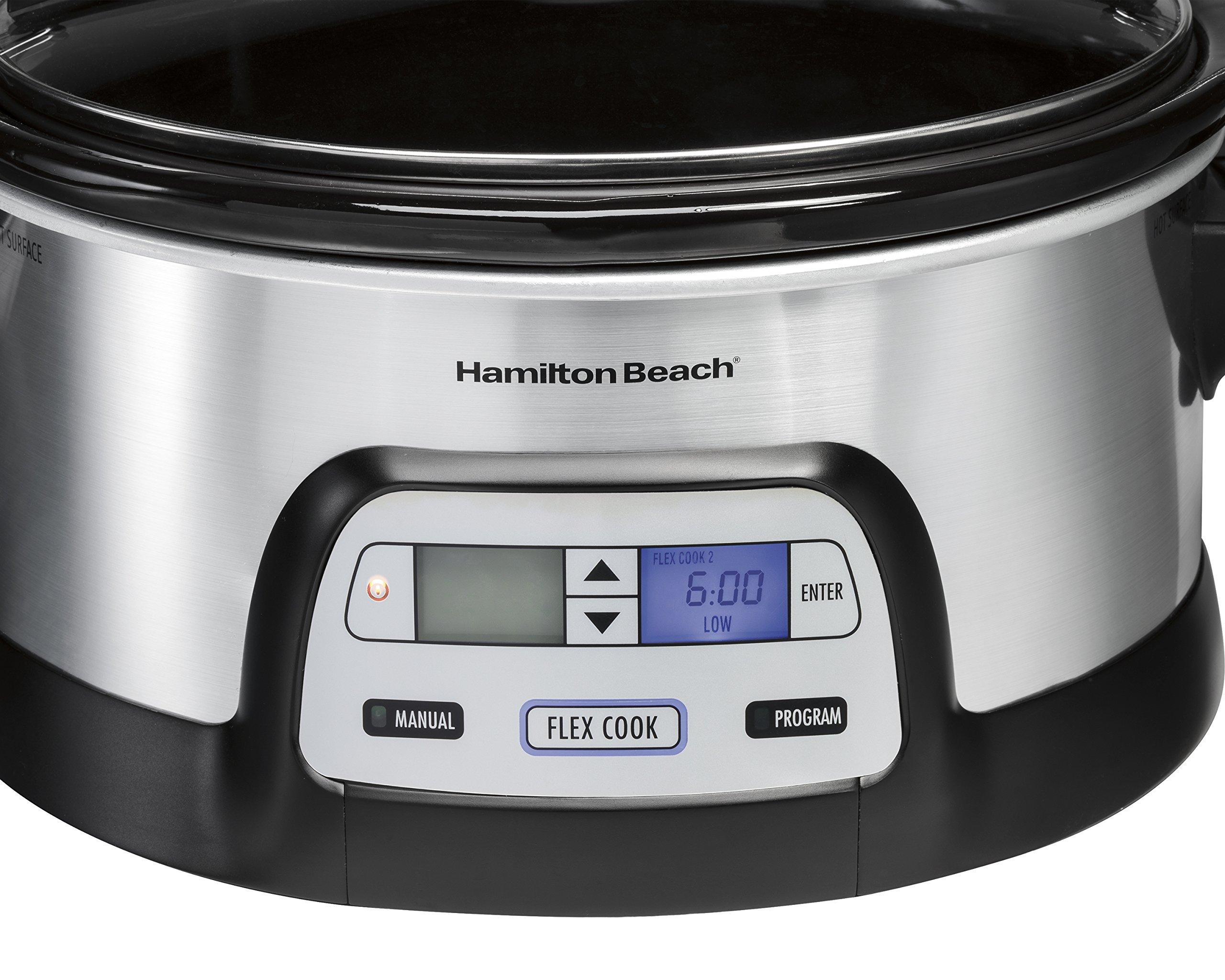Hamilton Beach 33861 Programmable Slow Cooker, 6 Quart, Dual Digital Timer, Stainless Steel by Hamilton Beach (Image #2)
