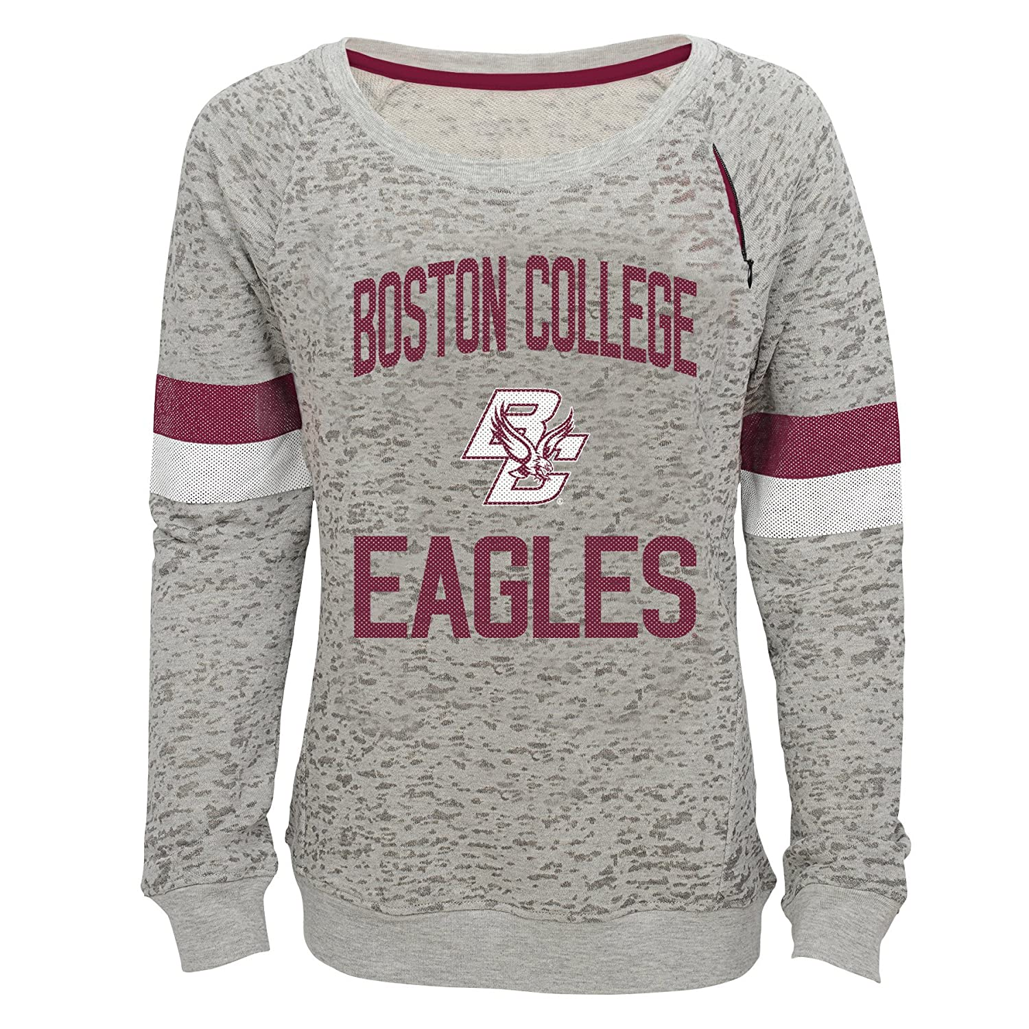 Youth Medium NCAA by Outerstuff NCAA Boston College Eagles Youth Girls My City Boat Neck Pullover 10-12 Heather Grey