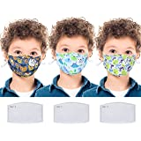 3 Pack Kids Knit Fabric Cloth Mouth Face Protect Cover Fashion Reusable Washable Breathable Bandana Balaclavas Anti Dust…