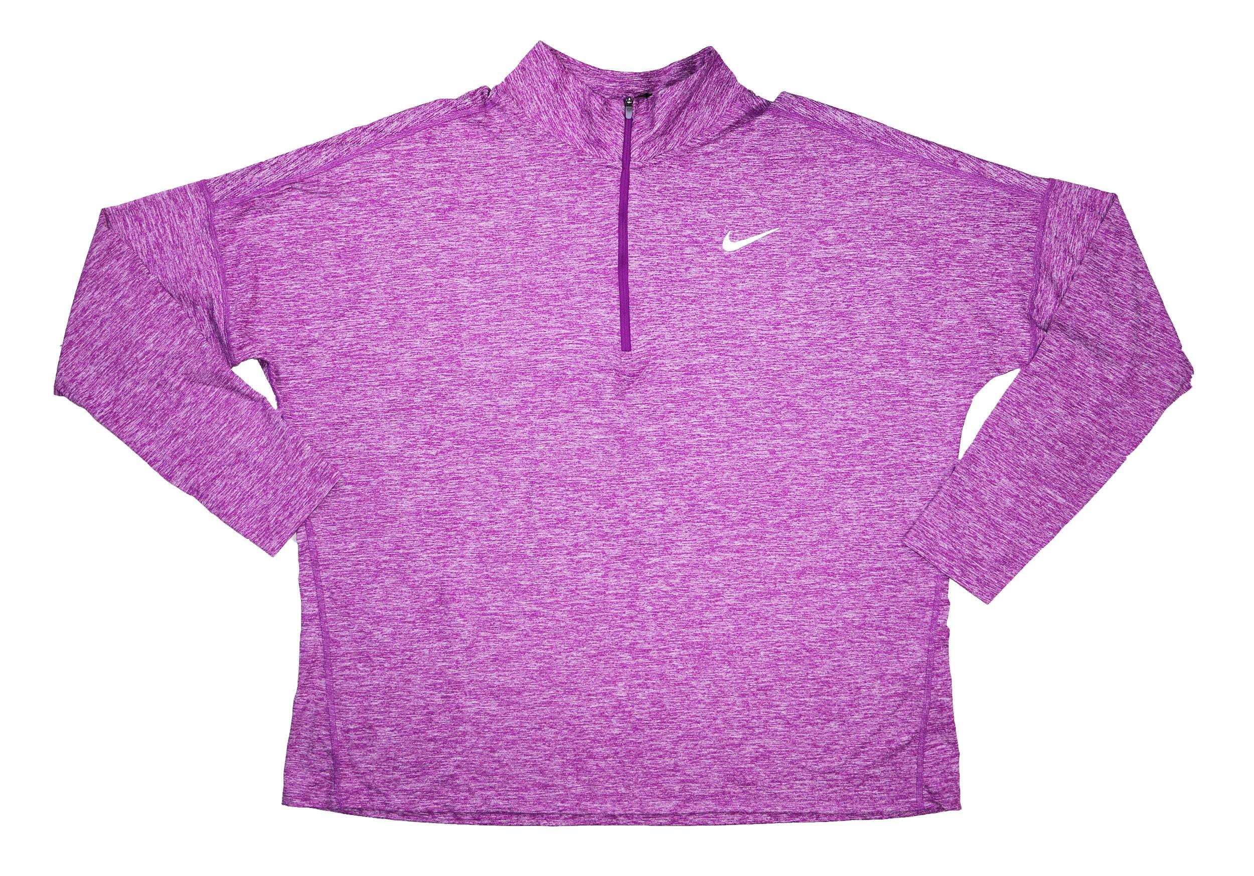 NIKE Women's Element Long Sleeve 1/2 Zip Running Top (1X)
