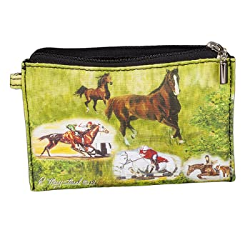 Animal Zippered Pouches with Ruth Maystead Design (Horses)