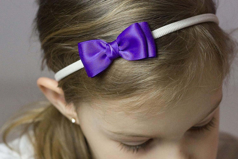 Girls Headband Olivia Satin Bow Handmade Headband Baby to Adult Headband Royal Blue Olivia Baby Bow Headband