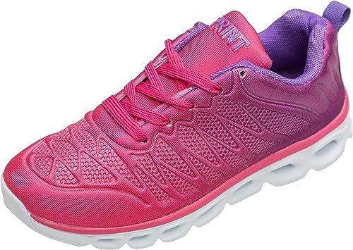 gibra® - Zapatillas Deportivas para Mujer, Muy Ligeras, artículo 6947, Rosa, Gris y Turquesa, Talla 36-41: Amazon.es: Zapatos y complementos