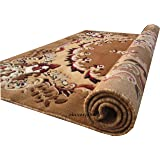 zia carpets Classical Look Traditional Carpet With 1 Inch Thickness & Competitive Price 5.0X7.0 Feet (150X 200 Cm) Gold at amazon
