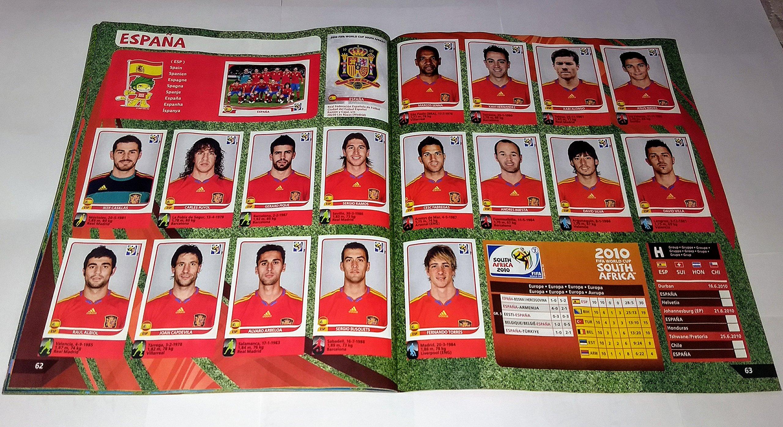 PANINI Copa del mundo Sudafrica 2010 Album Imagenes Impresas FIFA Mundial: Amazon.es: Panini: Libros