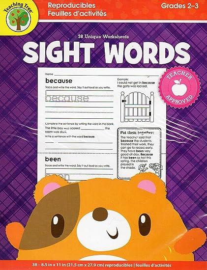 Amazon.com: Sight Words Educational Workbook Reproducible ...