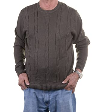 d6b2aac3c Image Unavailable. Image not available for. Color  Tricots St. Raphael  Cable Knit Crew Neck Sweater ...