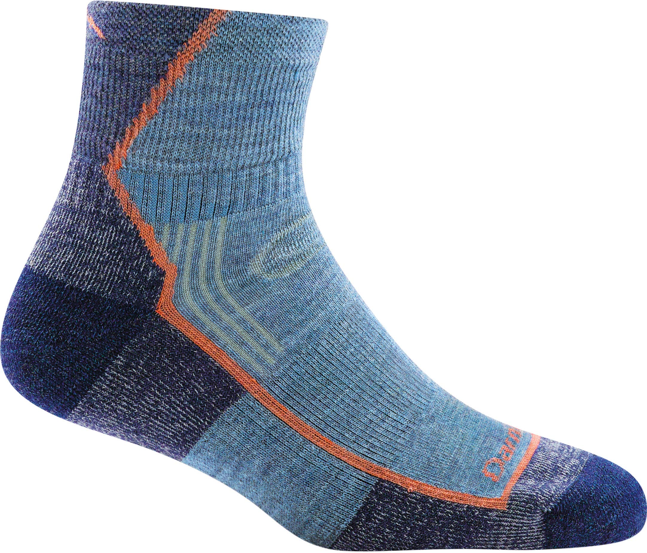 Darn Tough Women's Hiker 1/4 Sock Cushion (Style 1901/1958) Merino Wool - 6 Pack Special (Denim, Medium (7.5-9.5)) by Darn Tough