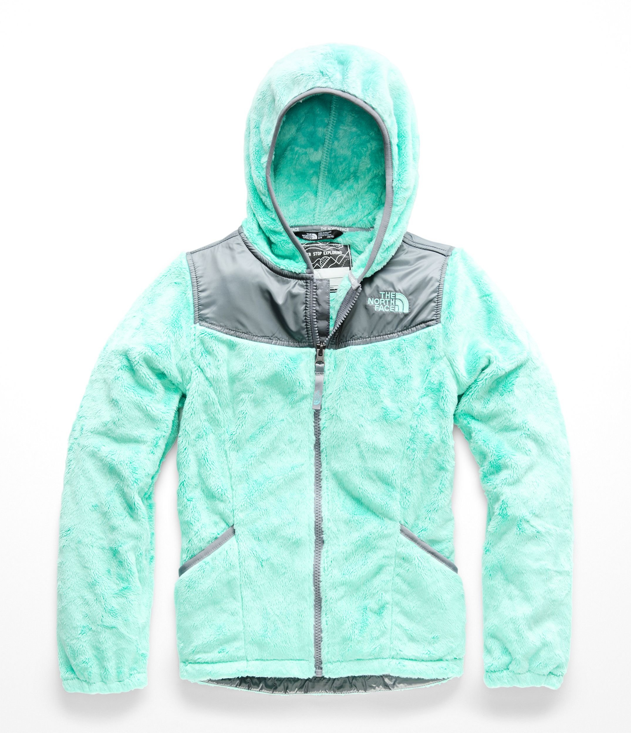 The North Face Girls OSO Hoodie - Mint Blue - L