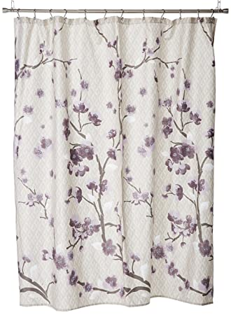 Amazoncom Madison Park Holly Modern Cotton Fabric Long Shower