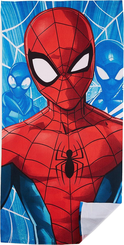 Avenger Marvel Spiderman Beach Towel for Kids Blue