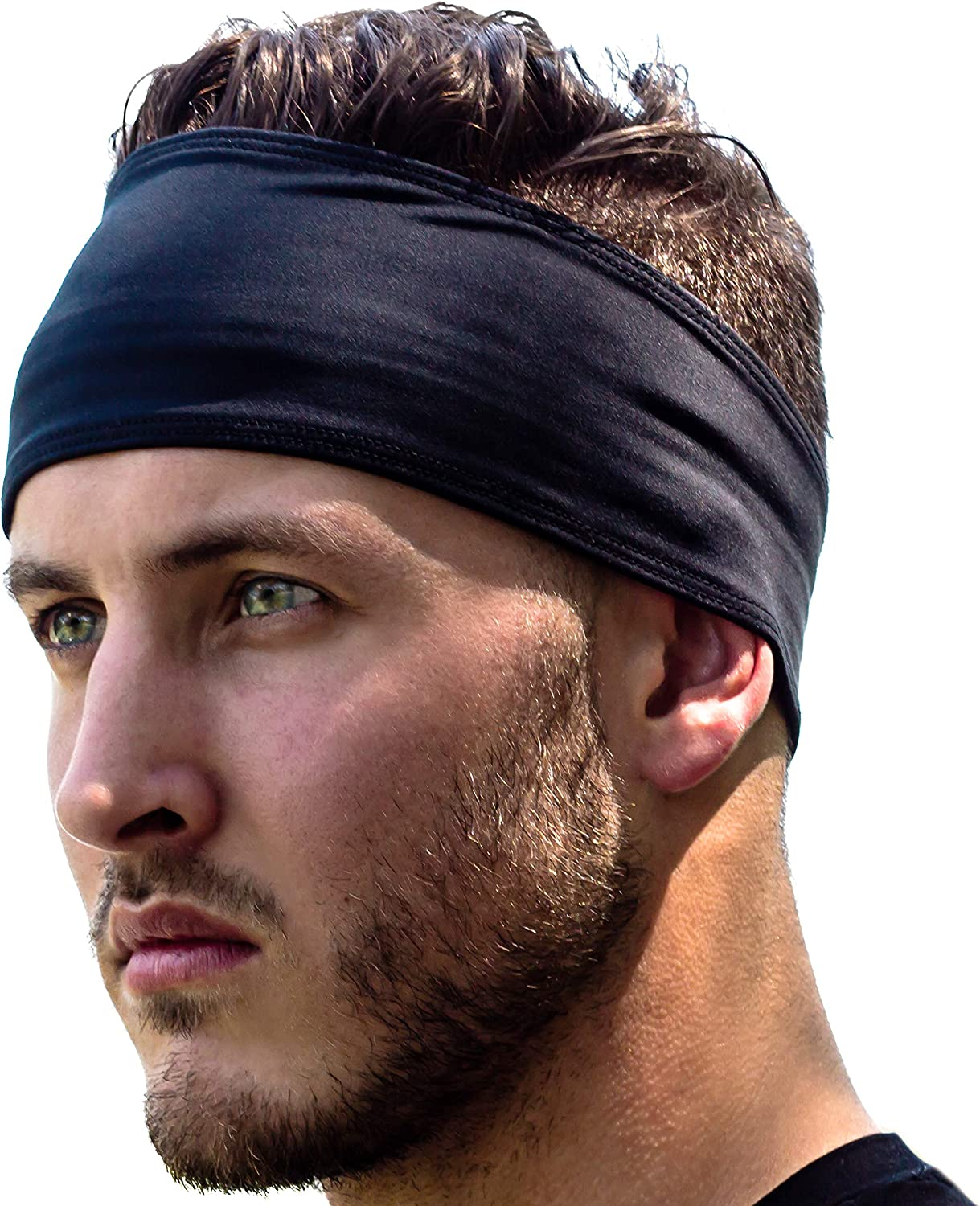 Unisex Women Men Stretch Headband Sports Sweatband Yoga Gym Hair Head Band New