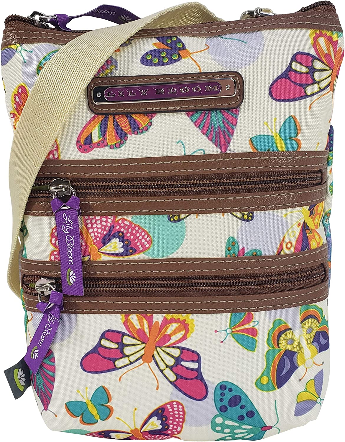 Lily Bloom Multi Section Eva Mini Crossbody Bag