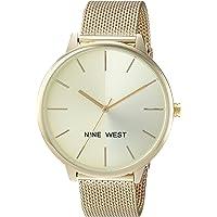 Nine West NW/1981 Sunray Dial Reloj de pulsera de malla para mujer