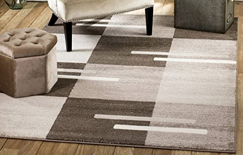 Rio Summit 301 Brown Beige Area Rug Modern Abstract Many Sizes Available 3 .6 x 5 , 3 .6 x 5