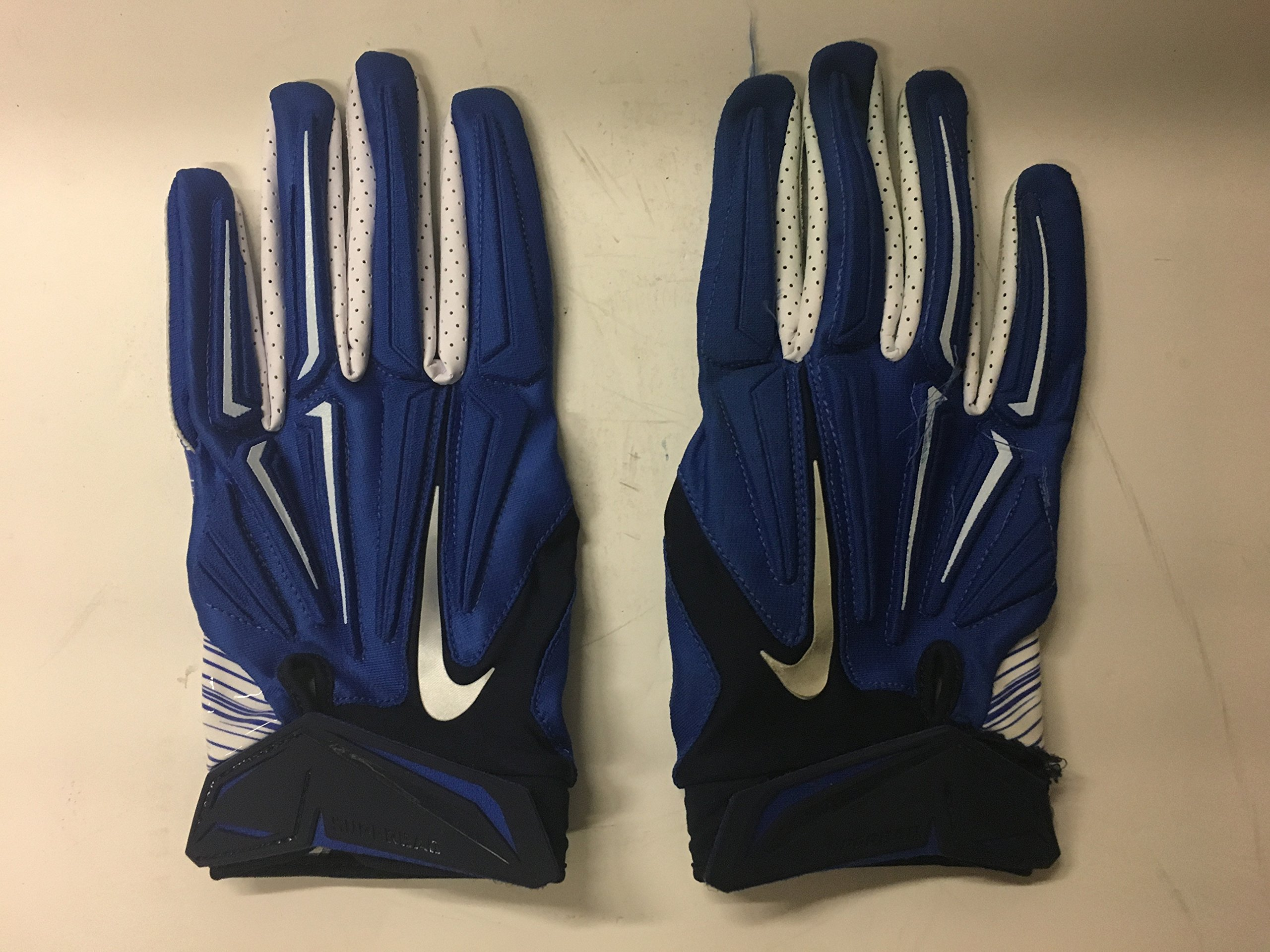 Jeremy Mincey #92 Game Used Nike Superbad 4XL Dallas Cowboys Magnigrip Blue/White Football Gloves