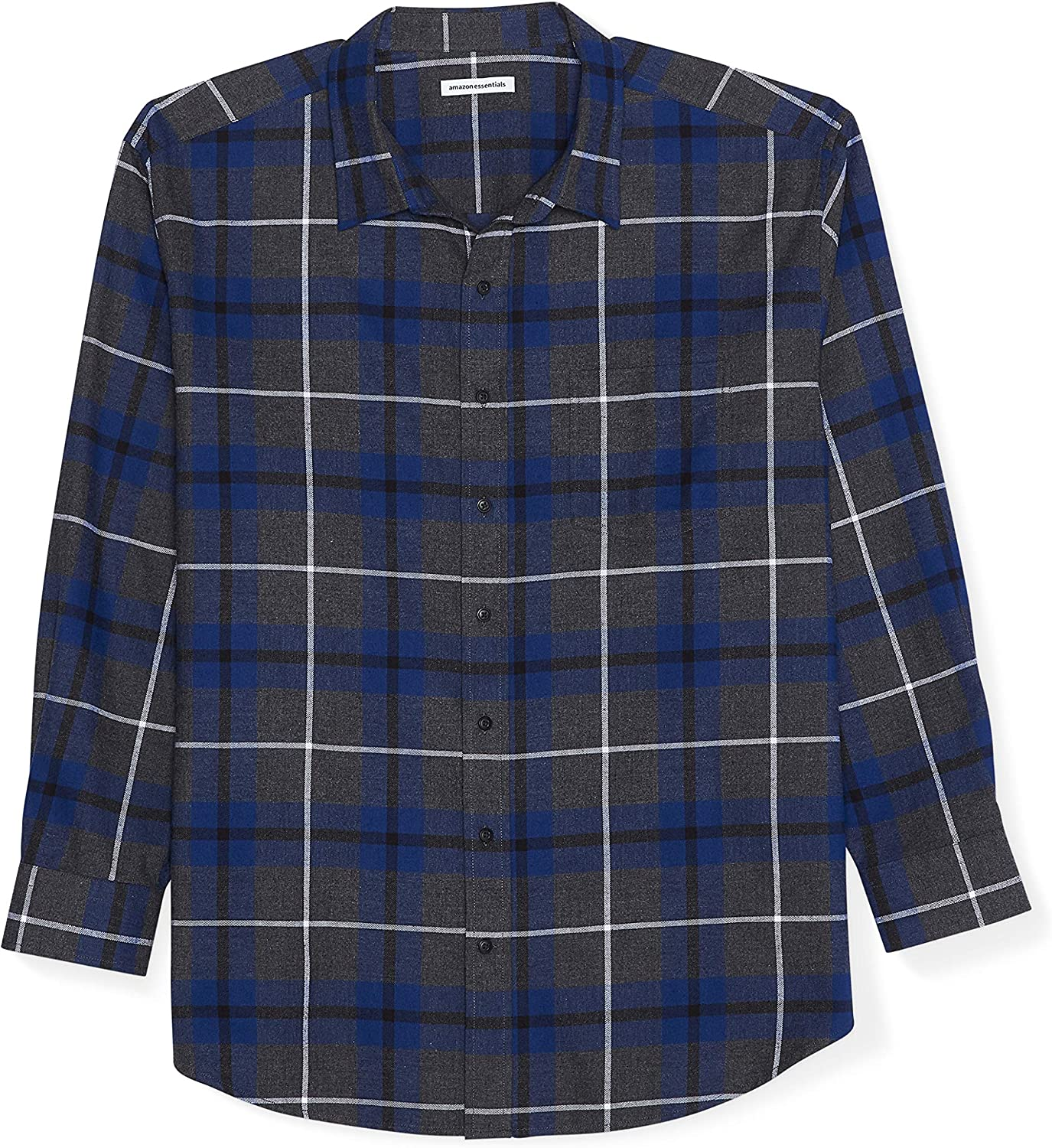 Amazon Essentials Men's Attention brand Big Tall NEW before selling Shi Long-Sleeve Plaid Flannel