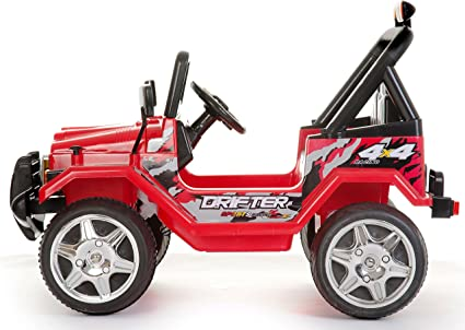 Kids 2 Seater 12v Electric Wrangler Style Jeep 4X4 Red Epic E618R Battery Ride on Car