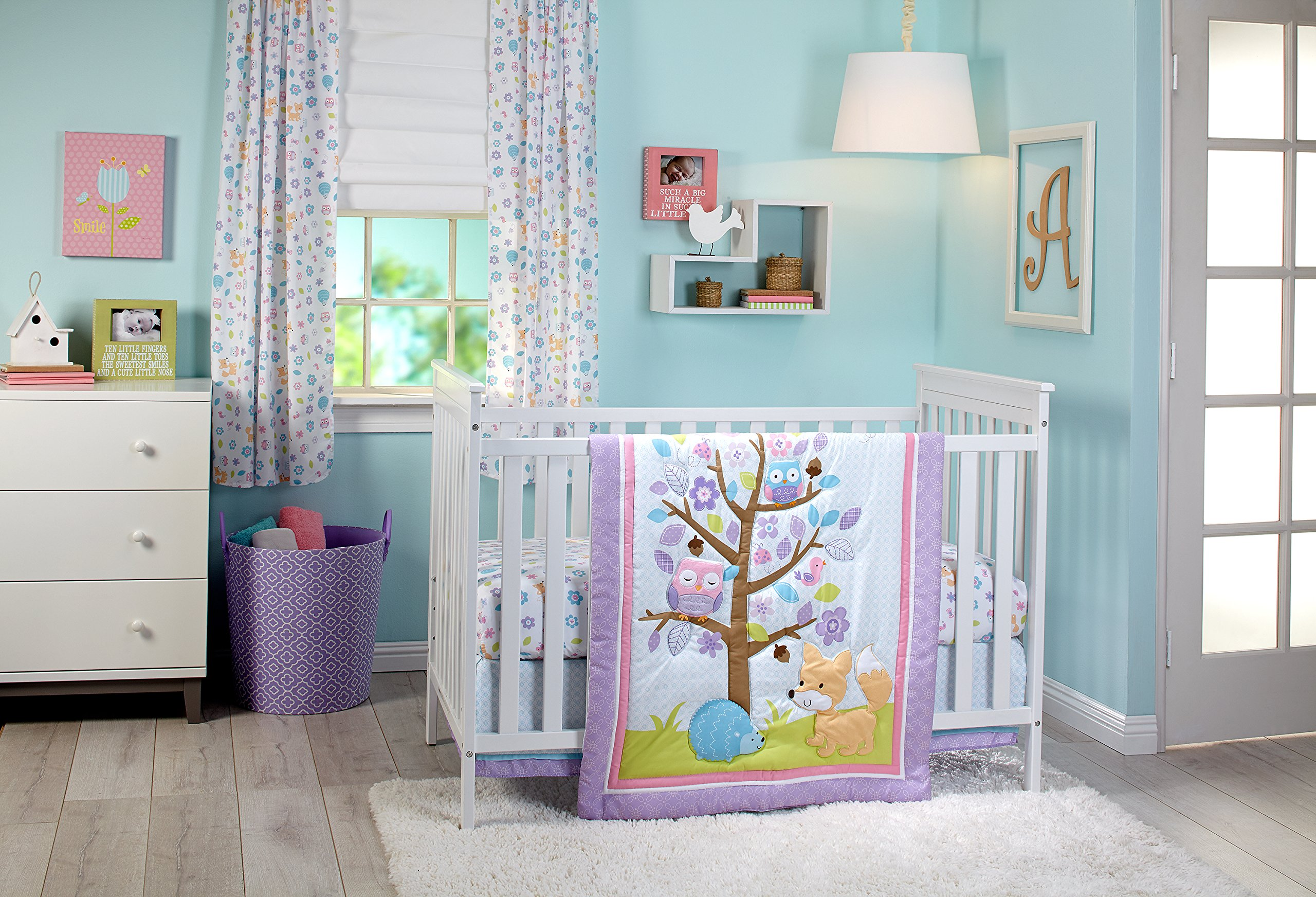 Little Love by NoJo Adorable Orchard 3 Piece Set, Multi-Colored