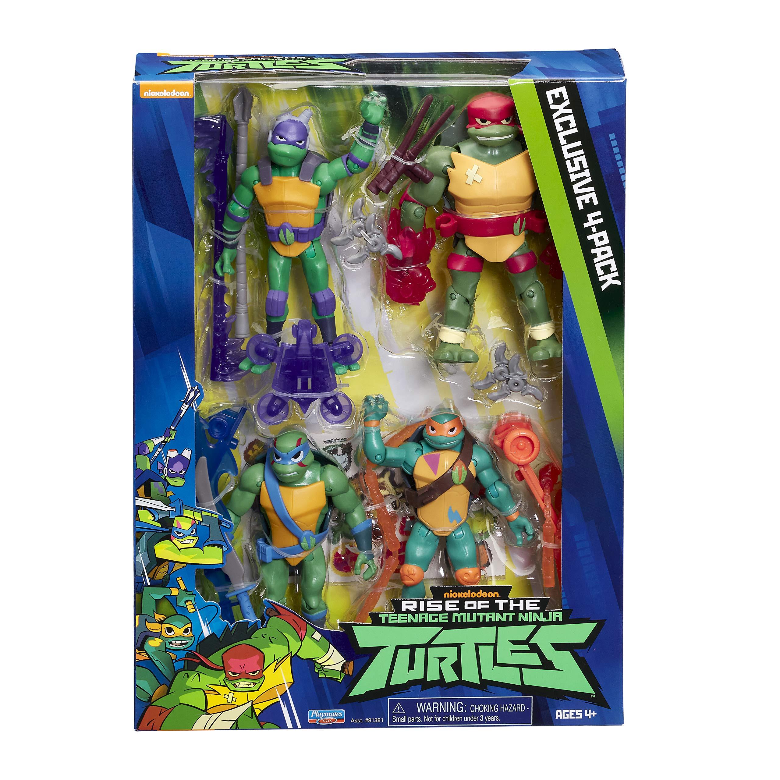 Teenage Mutant Ninja Turtles TU201000 The Rise of The Teenage Mutant Ninja 4 Pack of Brothers