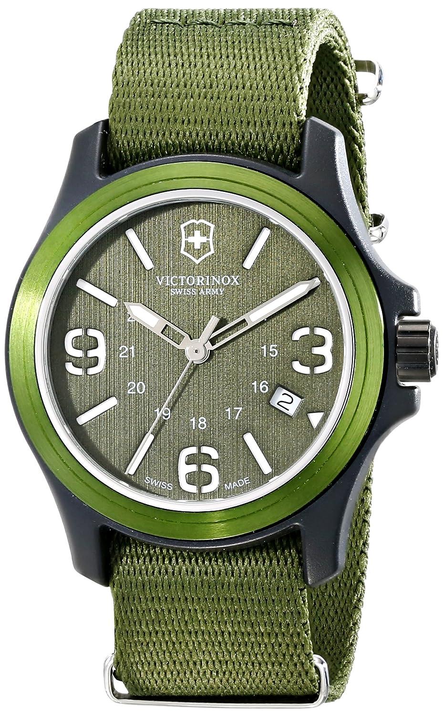 Victorinox Swiss Army Men s Original Swiss Quartz Watch with Nylon Strap