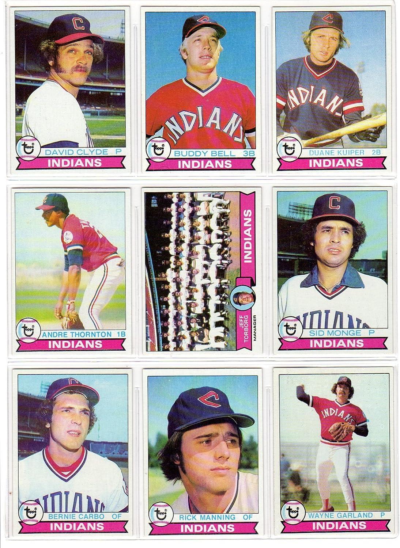 B00EMJK3MK Cleveland Indians 1979 Topps Baseball Team Set (29 Card Set) (David Clyde) (Buddy Bell) (Duane Kuiper) (Andre Thornton) (Sid Monge) (Rick Manning) (Wayne Garland) (Don Hood) (Jim Kern) (Tom Veryzer) (Rick Waits) 912rQavlwrL