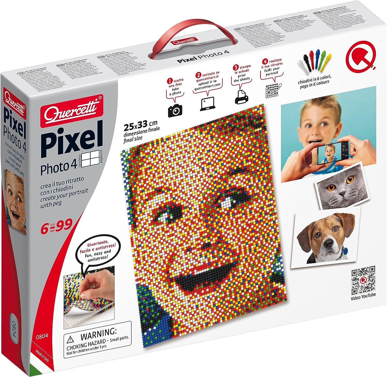 Quercetti 0804 - Pixel Foto Juego de Clavos, 4 tabletas
