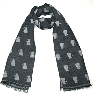 Amazon Dr Who Grey Dalek Scarf Official Bbc Doctor Who Scarf