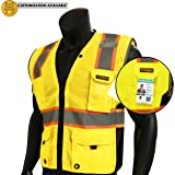 KwikSafety BIG & TALL | TOP DOG Class 2 iPocket Safety Vest | 360° High Visibility Reflectivity ANSI Compliant Work Wear | Hi Vis 8 Pocket Breathable Mesh Men & Women Oversized Fit | Yellow 2XL/3XL