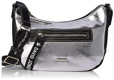 silverAmazon 5970 3 Sac Bandouliere David Femme Jones Argented Y6ybf7gv