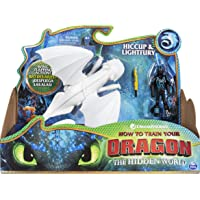 Dreamworks Lightfury and Hiccup Dragon w/Armored Viking Figure Deals