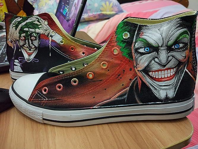 1fff6123fb19 Amazon.com  Batman Hand Painted Shoes For Women Men Custom Painted Sneakers   Handmade