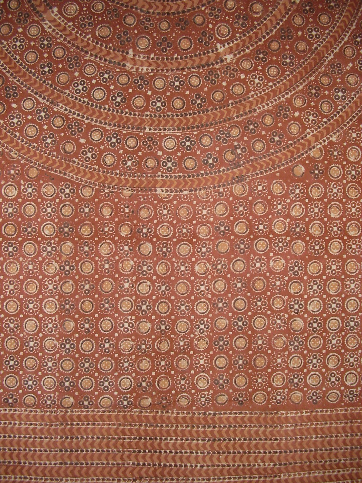 Block Print Mandala Tapestry Cotton Bedspread 108'' x 88'' Full-Queen Brown