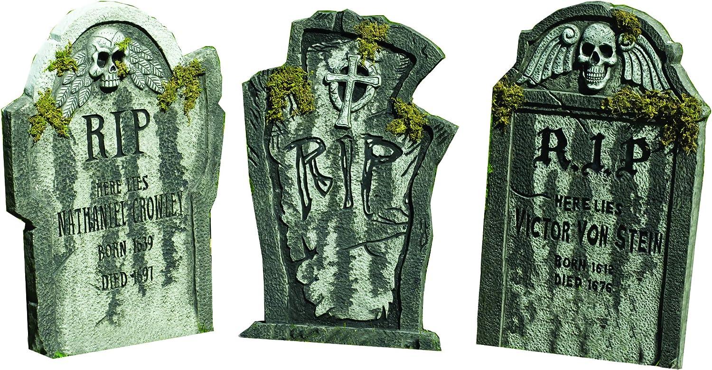 Halloween Party Deko Grabstein Kreuz 60 x 40 cm Gothic Partydekoration Friedhof