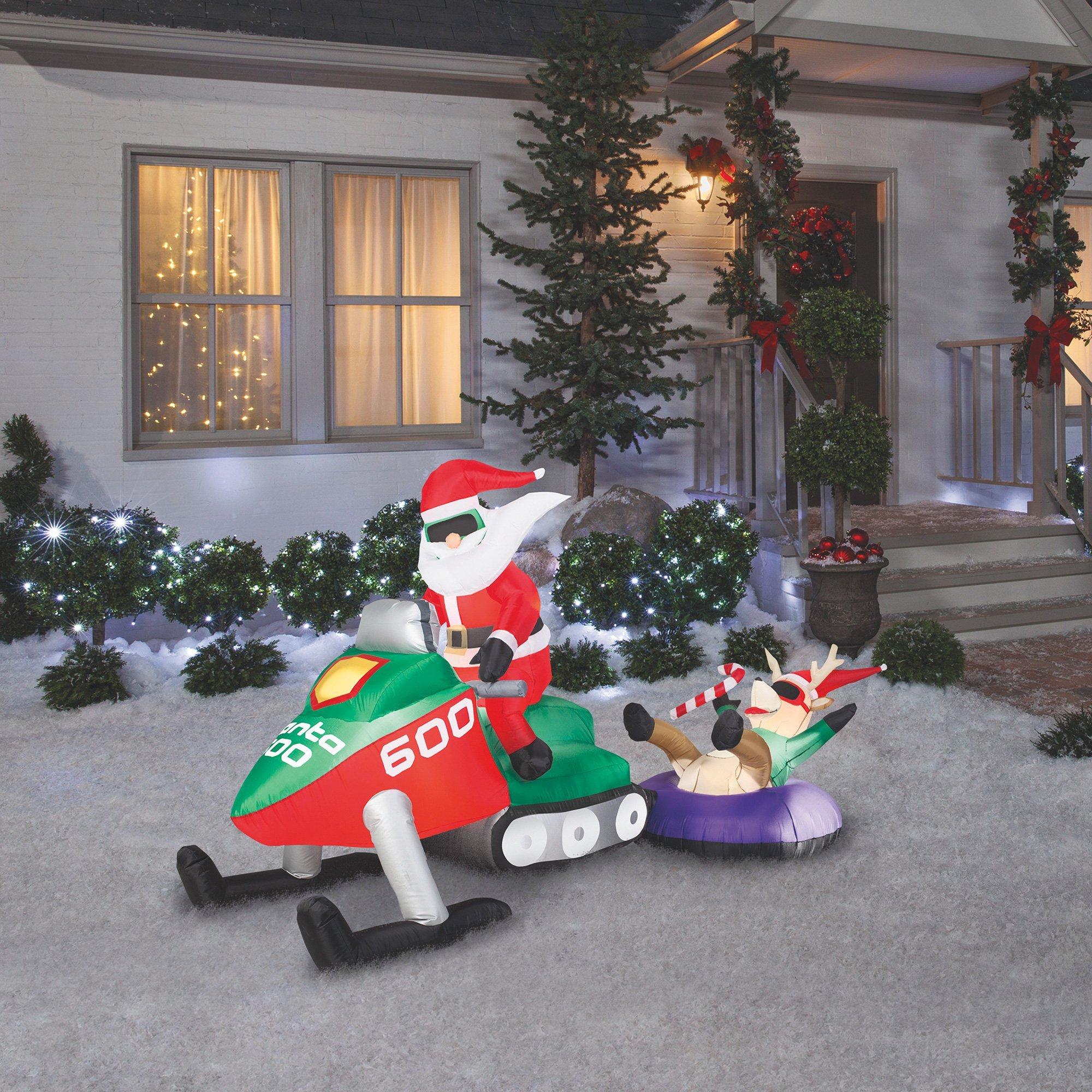 Gemmy Christmas Inflatable — Santa on Snowmobile