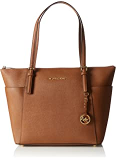 11786dd58910 Michael Kors Women Jet Set Large Top-zip Saffiano Leather Tote Shoulder Bag