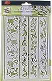 Pochoir flexible, feuille 21x14,8 cm, Frises - 4 motifs, 1 pièce