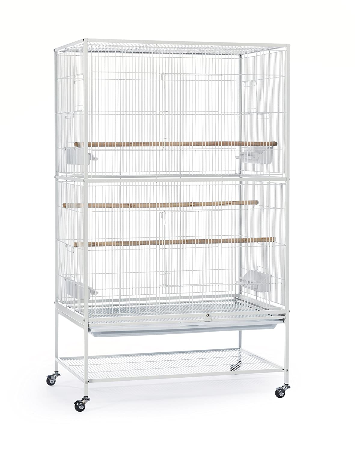 Prevue Pet Products Wrought Iron Flight Cage with Stand, Chalk White, Large F041
