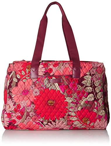Amazon.com: Vera Bradley Women's Triple Compartment Travel Bag ...