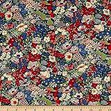 Liberty Fabrics Tana Lawn Thorpe Red Fabric by the Yard