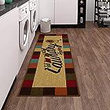 "Ottomanson Laundry Mat Runner Rug, Multicolor, 20""X59"""